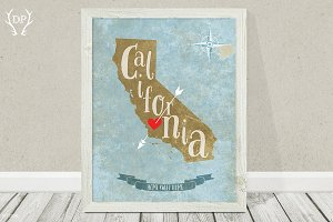 California state art printable