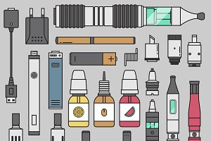 Vape device vector set