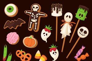 Halloween cake symbol vector