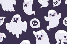 Spooky semless pattern vector