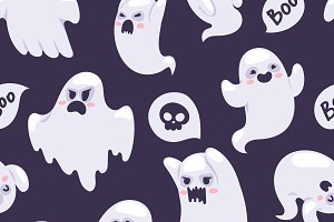 Spooky semless pattern vector
