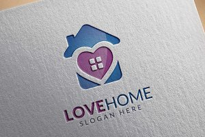 Love Home Logo, Real estate Logo