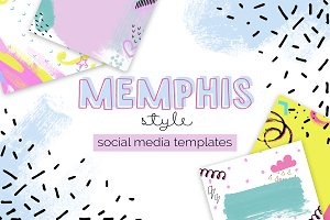 Memphis Style Templates