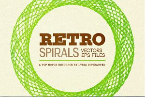 Retro Spirals - Scaleable Vector