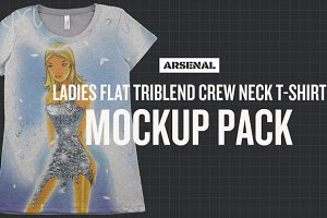 Ladies Flat Triblend Mockup Pack