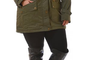 plus size model wear xxl coat