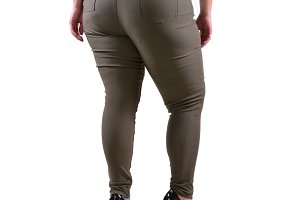 Plus size model wear XXL pants