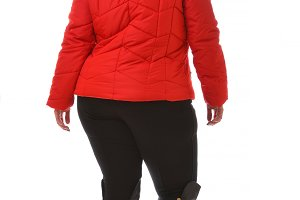 Plus size model wear XXL wear coat