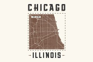 Chicago vintage t-shirt design