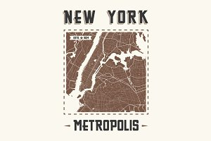 New York vintage t-shirt design