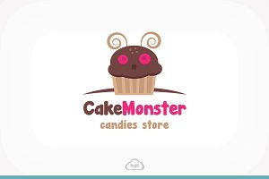 Cake Monster Logo Template