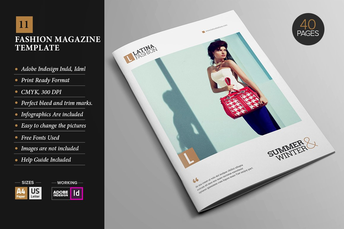 Magazine Template 11 ~ Magazine Templates ~ Creative Market