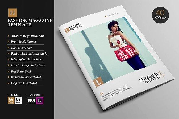 Magazine Template 11 Magazine Templates Creative Market
