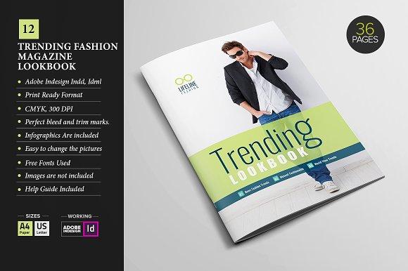 magazine lookbook template 12 magazine templates creative market