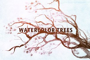 Watercolor Trees - Photoshop Brushes