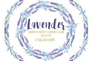 Lavender Watercolor Clipart Png