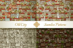 Medieval City Seamless Patterns #2