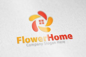 Flower Home & House Logo