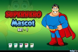 Superhero Mascot - Set 1