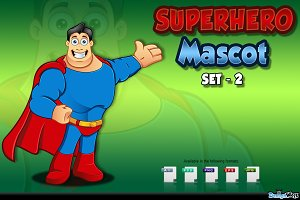 Superhero Mascot - Set 2