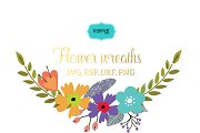 Flower wreaths vector clipart FLWR6