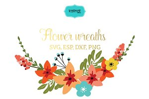 Flower wreaths vector clipart FLWR7