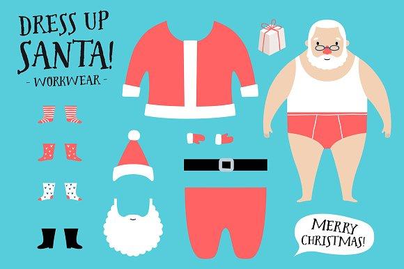 Dress Up Santa Christmas Set