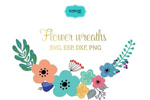 Flower wreaths vector clipart FLWR8