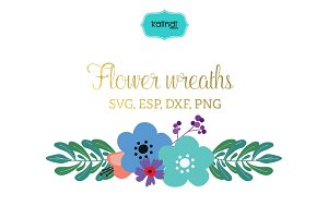 Flower bouquet vector clipart FLWR9