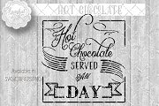 Hot Chocolate Vintage Sign Stencil
