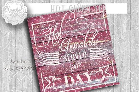 Hot Chocolate Vintage Sign Stencil