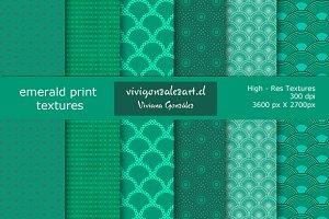 Emerald print textures