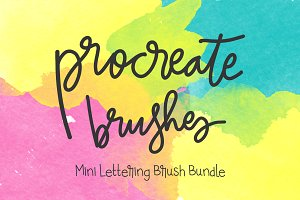 Procreate Lettering 4-Brush Bundle