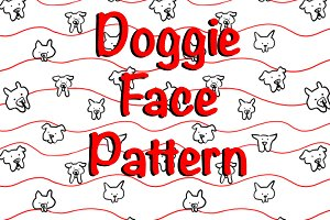 Doggie Face Pattern