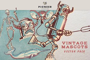 Vintage Mascots Vector Pack