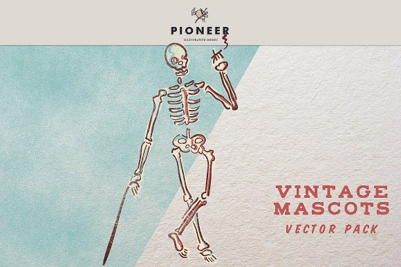 Vintage Mascots Vector Pack in Illustrations - product preview 1