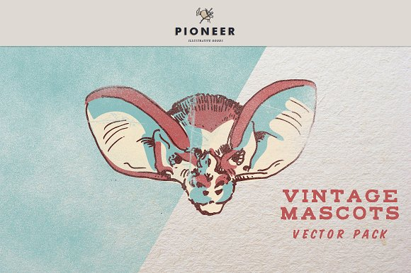 Vintage Mascots Vector Pack in Illustrations - product preview 3