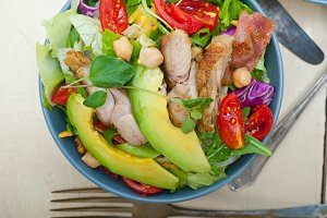 chicken and avocado salad