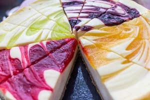 colorful chesse cake