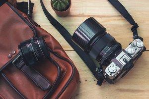 Vintage style DSLR camera