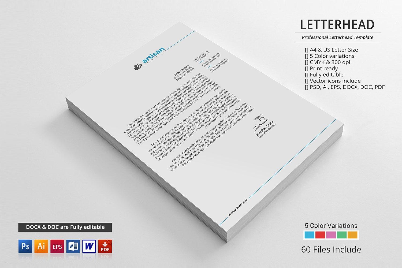 Corporate letterhead stationery templates creative market spiritdancerdesigns Gallery