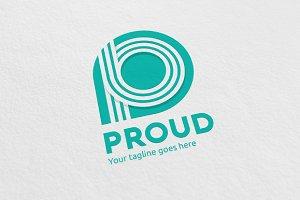 P Letter Line Logo