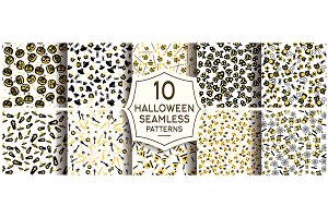 Set of 10 halloween patterns