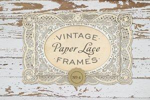 Vintage Paper Lace Frames No. 4