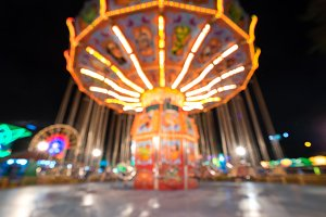 Blurred Swing ride