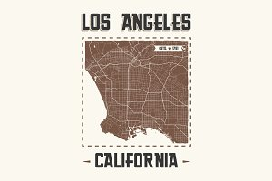 Los Angeles t-shirt design