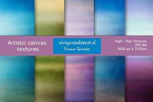 Artistic canvas textures