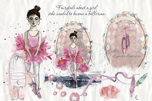 Ballet. Watercolor collection.