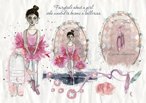 Ballet. Watercolor collection.  - Illustrations