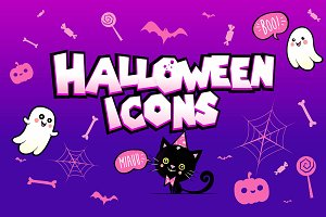 HALLOWEEN Icons + illustrations